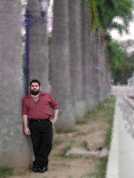 Jose Antonio Gutierrez Caballero en el Paseo de los Proceres, Caracas, Venezuela, 2004.