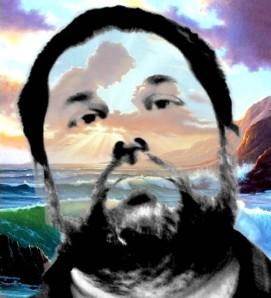 El poeta Jose Antonio Gutierrez Caballero viajando en su imaginacion
