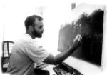 El pintor cubano Tomas Sanchez, amigo del poeta Jose Antonio Gutierrez, en su adolescencia, 1977-1978