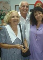 La actriz María Eugenia García y su madre Selene Gonce.