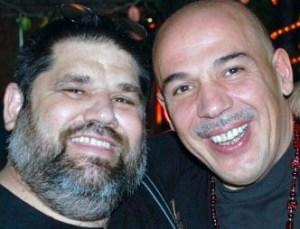 El poeta y letrista Josan Caballero, con su amigo compositor Gian Pietro Cazzago, el 23 de enero del 2009