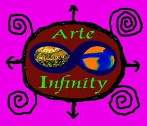Logo de la Galería de Arte Infinity, realizado por Ignacio Pérez Vázquez