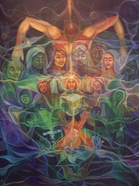 ISLA SOLA, con los ángeles fantasmas pintados por Ignacio Pérez Vázquez, y los mágicos poemas de José Antonio Gutiérrez Caballero.