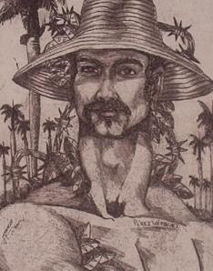 Guajiro, representación de un sector de la población cubana, por Ignacio Pérez Vázquez