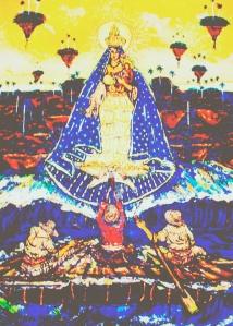 Cachita de todos los balseros, un cuadro maravilloso de Ignacio Pérez Vázquez, reflejado poéticamente por José Antonio Gutiérrez en el 2006.