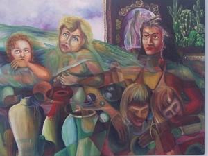 Los ángeles caídos, de José Antonio Gutiérrez, mágica y dramáticamente representados por la pintura de Ignacio Pérez Vázquez.