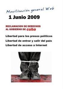 Segundo poster de la Movilización Web, realizado por la artista y publicista Margarita García Alonso.