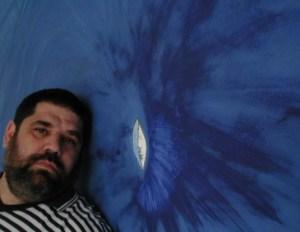 OJO DE MAR, pintura que hiciera el propio José Antonio Gutiérrez Caballero en la pared de su apartamento en Caracas, Venezuela, 2005.