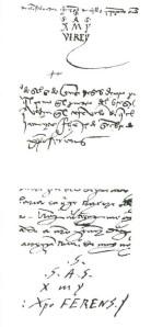 Rubrica de la firma en latin de Salvador-Christopher Fernandez Zar-Colon