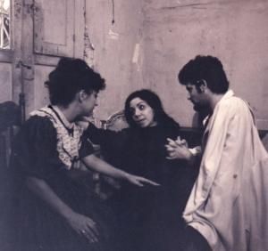 María Eugenia García, en otra escena de la telenovela Vía Crucis, que dirigiera Carlos Padrón, en la televisión de Santiago de Cuba,
