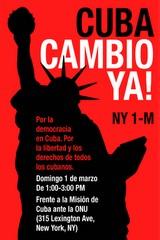 CARTEL DE JORGE SALCEDO POR EL CAMBIO EN CUBA YA...
