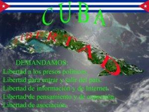 Cartel de Cuba por la Libertad.