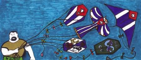 Mis Papalotes con Banderas, y los primeros Papalotes, ya preseleccionados: el Papalote Bandera de Chiquita Cubana, nuestra Margarita García Alonso, el de Cubaleah, diseño de Willi Trapiche (secundado y propuesto, a su vez por el Blog Negros Cubanos, en la persona de Ignacio Teodoro Granados, aunque él tiene igualmente que proponer uno de los suyos), y el Papalote de Cero Circunloquios, creado por Niurki y Ley Martínez.