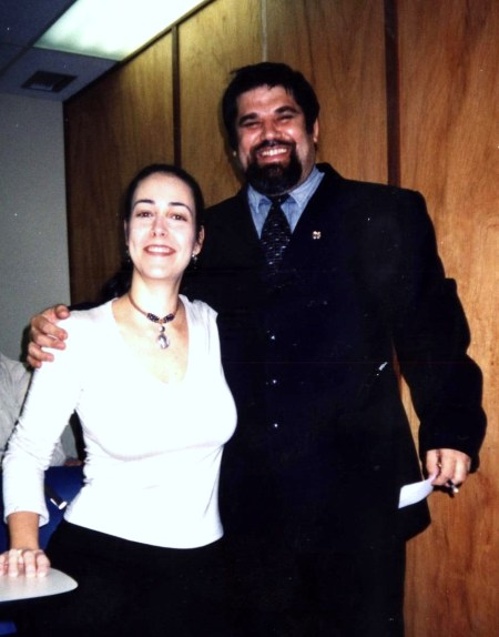Josan Caballero, con una de sus discípulas venezolanas.