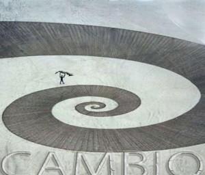 Hay que colocar a Cuba en la espiral del Cambio, affiche de Margarita García Alonso.