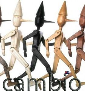 Un país de Pinochos de madera tiene que cambiar, Josán Caballero pronuncia estas palabras, gracias al cartel de Margarita García Alonso.
