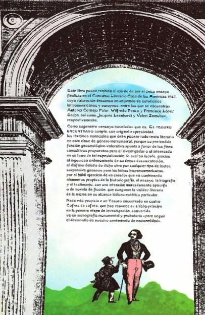 Segunda Solapa del libro El Tesoro Encontrado, de José Antonio Gutiérrez Caballero.