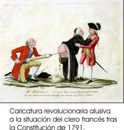 Caricaturaclero...La Bastilla en la Caricatura de la época...