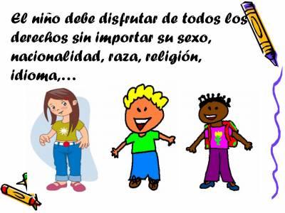Derechos de los niños y las niñas...