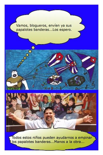 Las historietas y los papalotes con banderas de Josán Caballero.