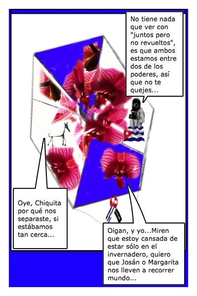 Papalote Bandera del Blog de Chiquita Mala, realizado por Margarita García Alonso, con historieta de Josán Caballero.
