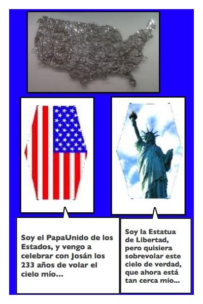 La Historieta del Papaestado, el homenaje de Josán Caballero, a los 233 años de la Independencia de los Estados Unidos...