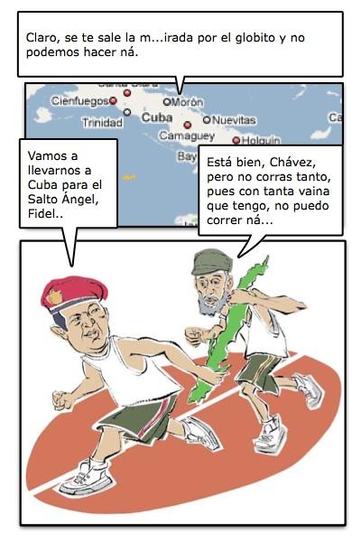 HISTORIETA DEL PAPAFIDE Y EL PAPACHÁVEZ, QUERIENDO EMPINARSE LA ISLA DE REPENTE, POR PIERO Y JOSÁN, CON DISEÑOS DE LA PROPIA WEB...