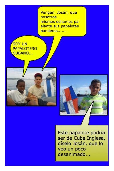 Papaloteros cubanos, queriendo ayudar a los blogueros, en la Campaña y Jornada Mundial de Josán Caballero, en el mes de julio.