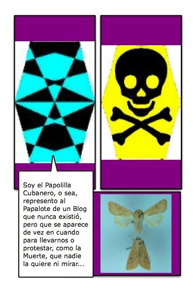 El Papapolilla Bandera, del Blog La Polilla Cubana, de Rosa Cristina Báez Valdés, papofrancotiradora castrista y seductora, con historieta de Josán Caballero.