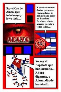 Papalote Bandera para Alana, del Blog Alana1962, con historieta de Josán Caballero.