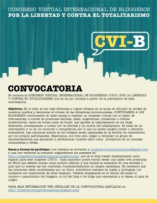 Flyer Convocatoria del Congreso Virtual