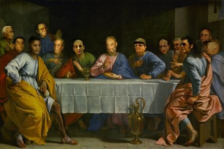 La Última Cena Cubana, con algunos miembros que ya no están...