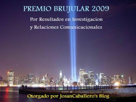 Premio Brujular 2009, otorgado por Josan Caballero's Blog