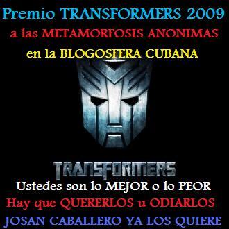 Premio Transformers de Josan