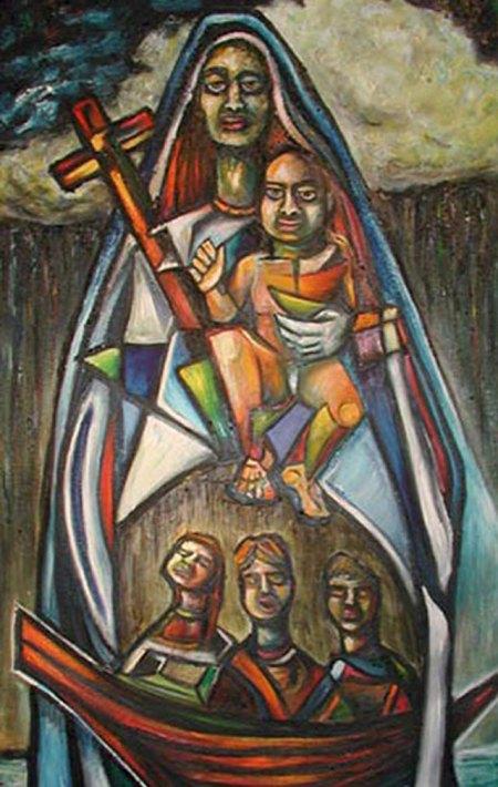 La Caridad del Cobre cubana, Ochún.