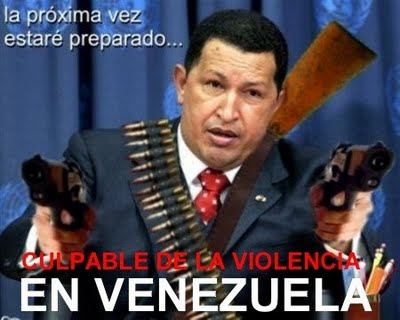NO MÁS TERRORISMO DE ESTADO, NO MÁS CHÁVEZ...