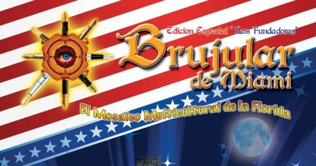 Portada de la Revista Brujular de Miami, cuyo redactor y editor en Jefe es José Antonio Gutiérrez Caballero, JOSÁN CABALLERO, y la realización del diseño es de César Venegas.