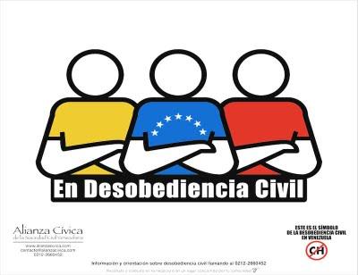 En Desobediencia Civil, NO MÁS CHÁVEZ...