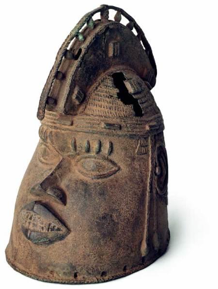 Atributo de Odúduwa, encontrado en Benin.