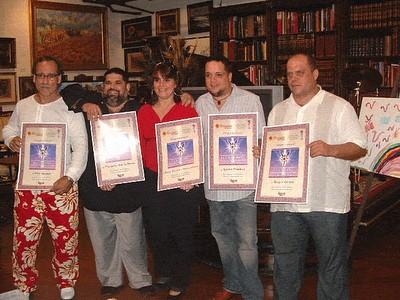 Algunos de los blogueros galardonadps con el Premio de Excelencia EGOBLOG