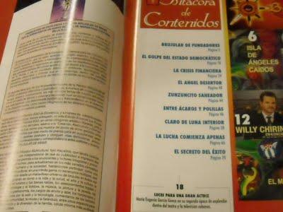 Indice de la Revista BRUJULAR DE MIAMI, que tiene 74 páginas y cuesta 3 dólares. Puede comprarse en este blog.