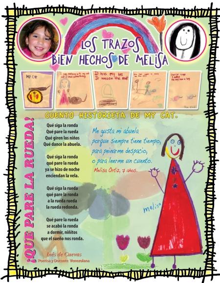 La página de TROTAMAR, que Josán Caballero dedicó a la creación de la niña Melisa Ortiz, integrante del Taller HOLA DE TROTAMARES, que tendrá su espacio cada domingo, a partir de las 5 de la tarde, en el Centro de Arte CUBA OCHO, con la coordinación de su Equipo de Arte y la dirección artística de José Antonio Gutiérrez Caballero.