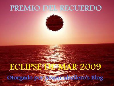 Premio del Recuerdo, creado por Josán Caballero y Javier Guzmán y Zoe Simón, del Blog Sátiras de BioEstética.