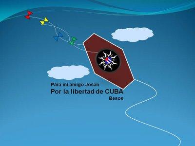 Papalotes por la libertad de Cuba, de la venezolana Inés de Cuevas.