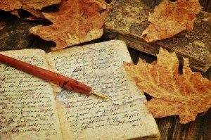 Pluma y manuscrito