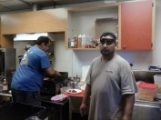 El chef Leonardo y su asistente...