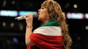 Jenni Rivera with the Flag