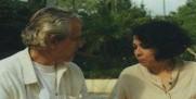 María Eugenia García, con el actor Maz Alvarez, en el teleplay teatral EL VENENO DEL TEATRO, de Rudof Sirera, dirigido para la TV Cubana, por Rolando Chiong.