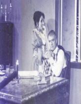 María Eugenia García, con el actor Miguel Gutiérrez, en una novela de la TV cubana