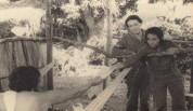 María Eugenia García, con la famosa actriz Raquel Revuelta, en el personaje de Clodomira y Lidia, respectivamente, del filme AQUELLA LARGA NOCHE, de Enrique Pineda Barnet.
